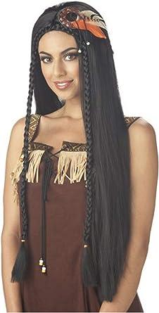 Amazon Com California Costumes Black Sexy Indian Princess Wig