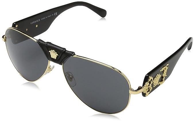 Versace 0Ve2150Q Gafas de sol, Gold, 62 para Hombre: Amazon ...