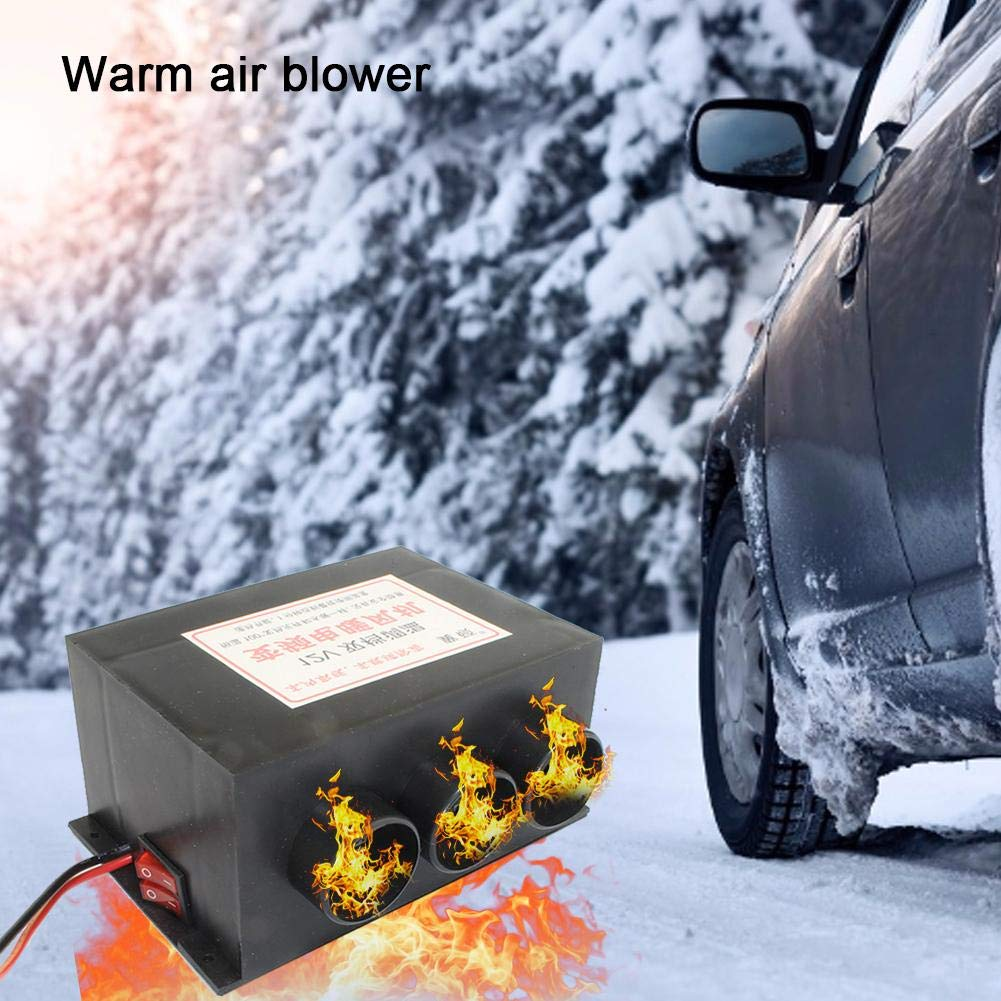 Yunhigh DC 12V//24V 800W Car Vehicle Truck Fan Heater Heating Warmer Windscreen Defroster Demister Fan Car Heater Defroster Hot 3 Port Professional