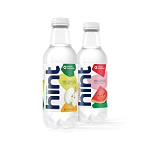 Hint Water Crisp Apple & Watermelon Bundle - 12 Pack Pure Water Infused with Crisp Apple and 12 Pack Pure Water Infused with Watermelon, 16 Fl Oz (Pack of 24)