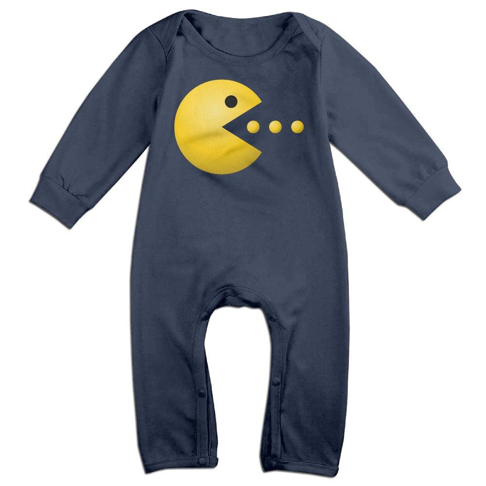 Kiddos bebé Pelele de bebé Pacman Logo Manga Larga Empalme ...