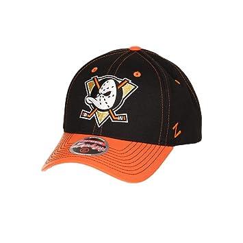 bfff6f33259 Zephyr NHL ANAHEIM DUCKS Staple Curved Snapback Cap  Amazon.co.uk  Sports    Outdoors
