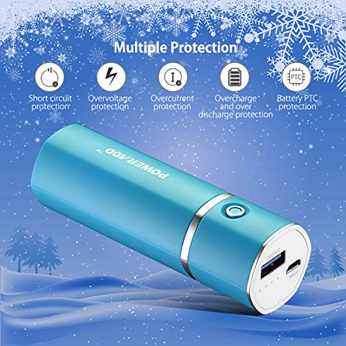 Poweradd Slim2 almost all extra sleek and elegant 5000mAh portable Charger power Bank because of shrewd fee for iPhones Android cel Windows cel and extra Blue External Battery Packs