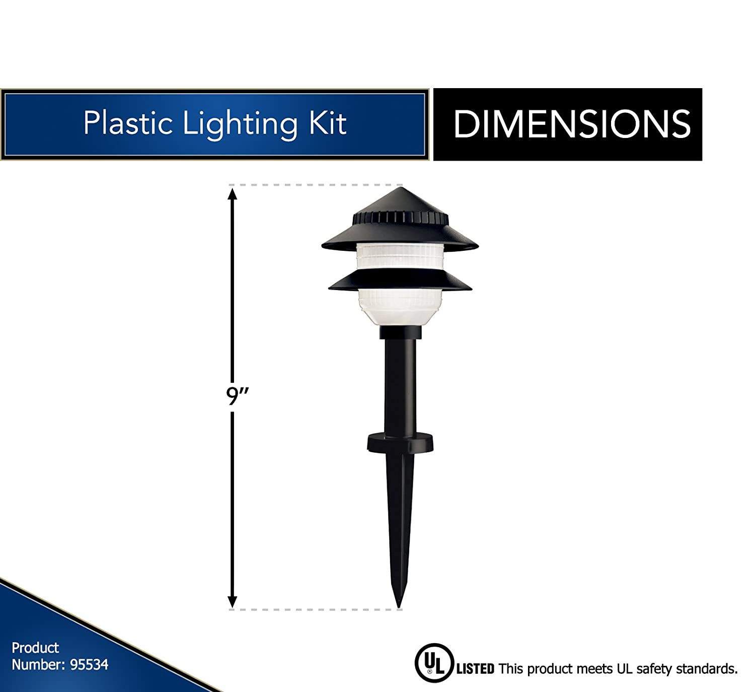 Moonrays Low Voltage Path Lights In Tiered Design 10 Diagram 12 Volt Light Wiring Fixture Kit Black Landscape Pathlights