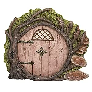 Pacific Giftware Miniature Fairy Garden of Enchantment Fairy Gnome Hobbit Tree Cottage Door 4 Inches