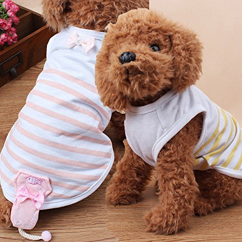 Pets Corner Market Wholesale Flawless Cute Pet T-shirt Clothing Puppy Costume Apparel Ropa De Perros De Mascotas Dog Clothes for Small Dogs (X-Small, Pink)