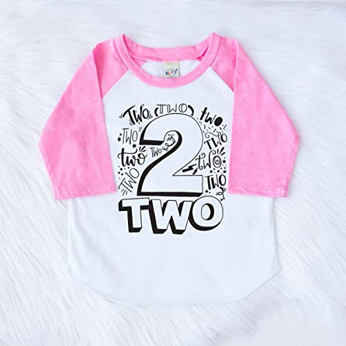 Amazon Personalized 2nd Birthday Party Shirt Pink Top For Little Girls Daughter Toddler Handmade
