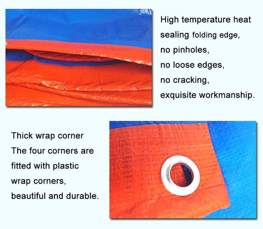 2 × 3m  ZLL BÂche extérieure imperméable à l'eau-Heavy Duty Tarps BÂche anti-pluie couvrant imperméable à l'eau de prougeection solaire Couverture de linoléum auvent couvert 180G   M²,3 × 4m