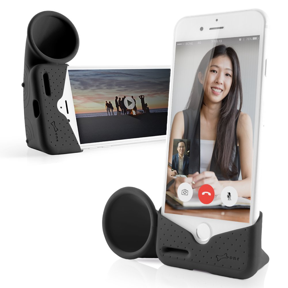 size 40 f00db be8ba Bone Collection Acoustic Sound Amplifier Phone Stand Audio Dock Portable  Speaker Desktop Cradle Holder for iPhone Xs Max, iPhone XR, iPhone 8 7 6 6s  ...