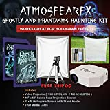 AtmosfearFX Ghostly Apparitions, Phantasms SD Media Card Ultimate Haunting Kit, Includes 1200 Lumen Projector, Translusent Screen, Hologram Screen With Stand Kit and Free Tripod