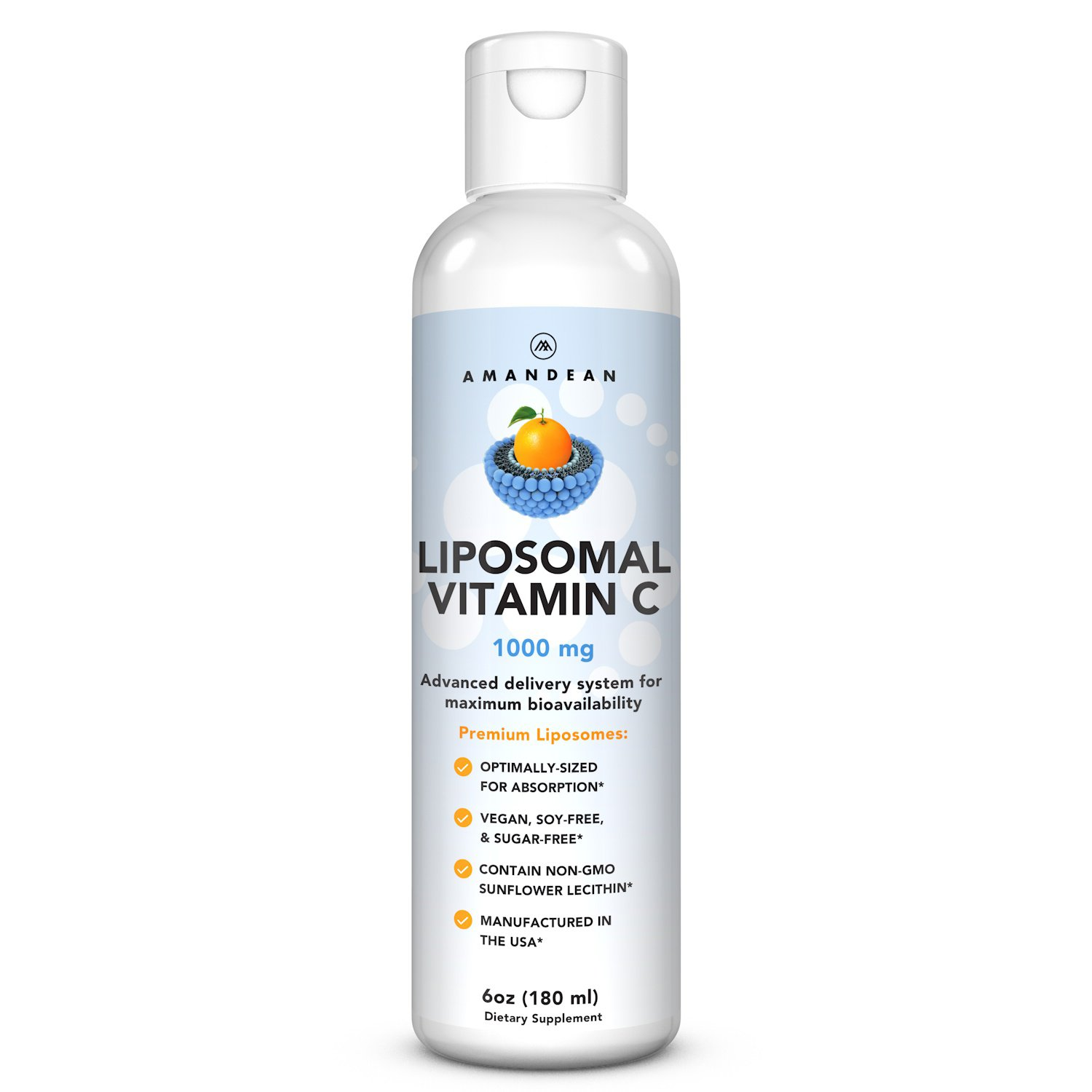 Liposomal Vitamin C 1000mg - Advanced Delivery System for Maximum Bioavailability. Supports Immunity, Promotes Skin Health & Collagen Production, Fast Absorbing, Non-GMO Tested. Soy Free Formula.