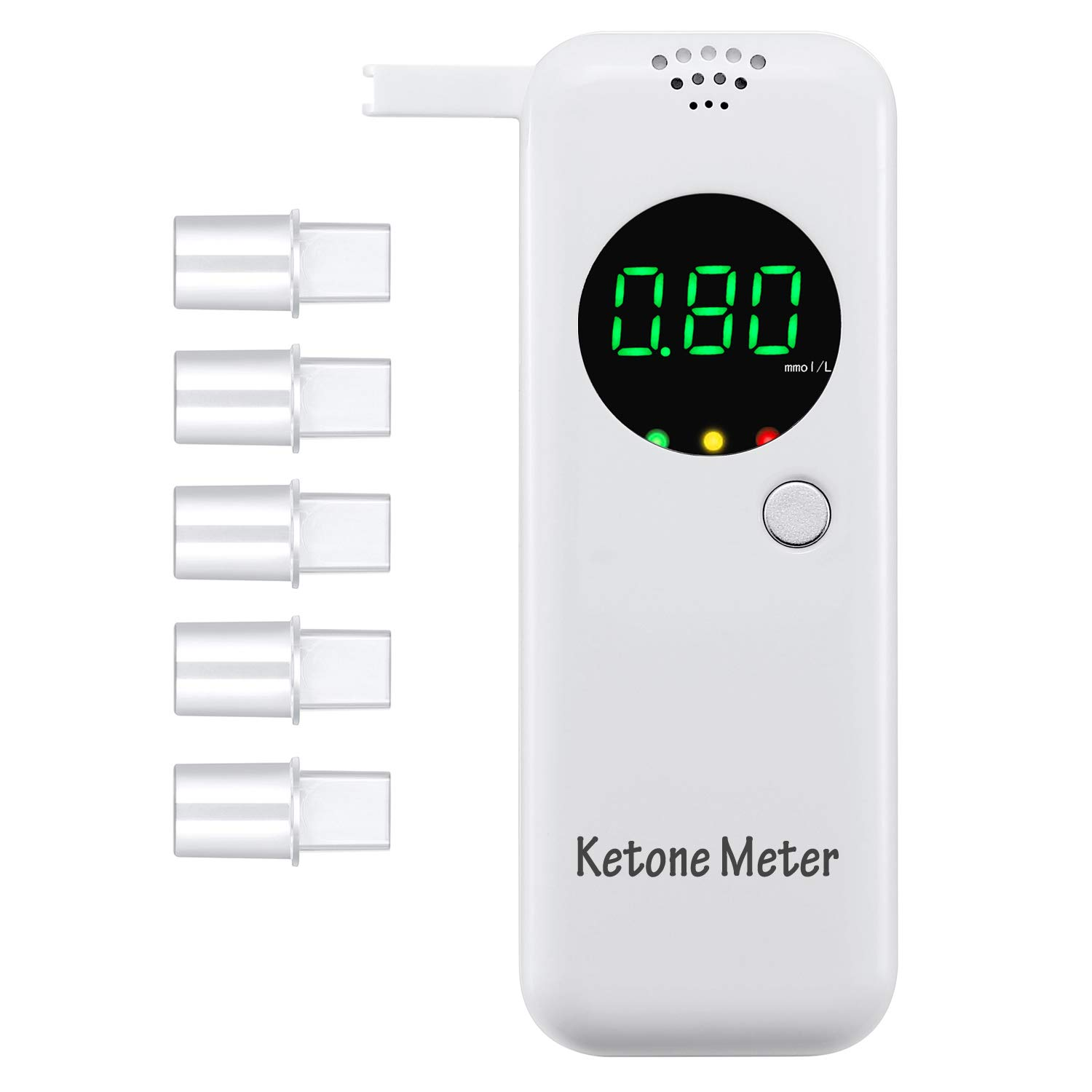 Ketone Breath Meter with Digital LCD Displays for Dietitian Testing by YIKKAI