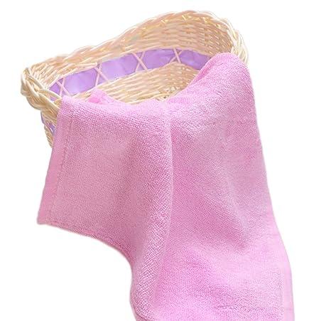 Leisial Toalla Pequeñas del Bebé Niños Absorbe Trapo Baberos Bayeta de Limpieza Microfibra con Fibra de