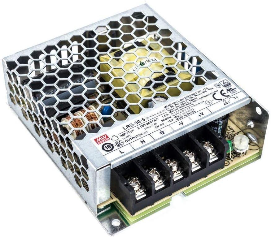Mean Well LRS-50-12 Netzteil 50W 12V Ultraflach 30mm 1HU Einbau-Metallgehäuse
