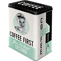 Nostalgic-Art Retro voorraaddoos L cadeau-idee voor nostalgische fans, grote koffieblik van blik, Say it 50's - Coffee…