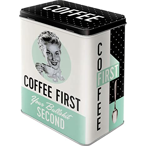 Metal Espresso Yourself Say It 50s 11 x 8 x 18 cm Nostalgic-Art Latas Say it 50s