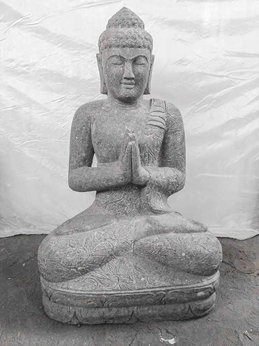wanda-collection.com Estatua de Piedra Buda posición rezo jardín Zen 1 m: Amazon.es: Jardín