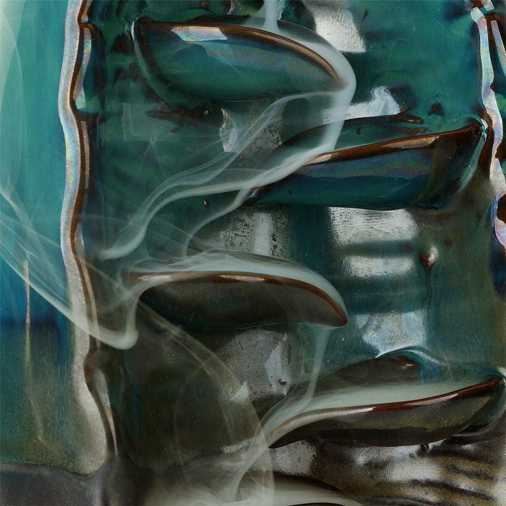 DZANS R/ückfluss R/äuchergef/ä/ß Halter Keramik Wasserfall Rauch R/äucherst/äbchenhalter f/ür Wohnzimmer Dekorationen Aromatherapie Diffusoren Ornament Wohnkultur