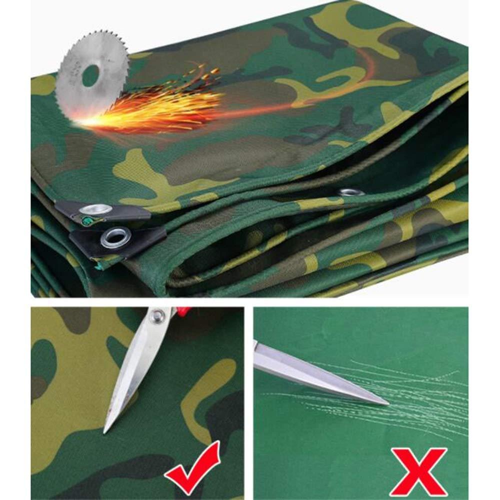 Sonnenschutz Wasserdichter Poncho Camouflage Oxford Cloth Gewebeplane ZX Outdoor Jungle Dust Cover 400g/㎡ Size : 5x6m