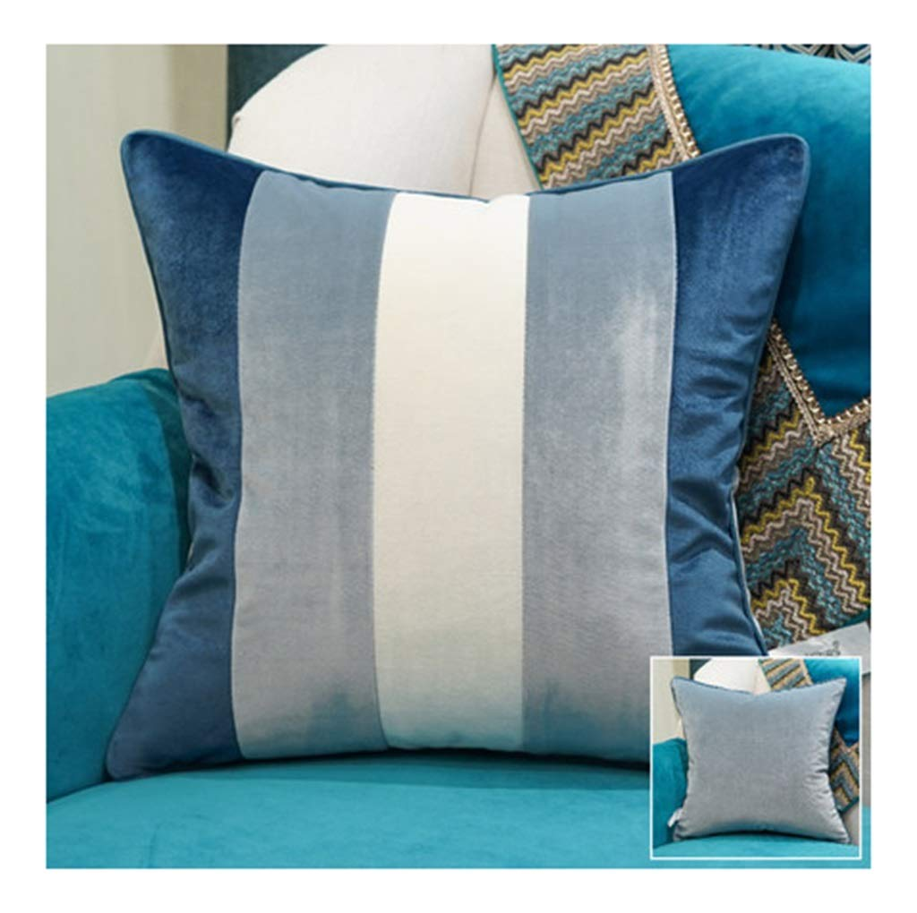 PANGU-ZC Sofa Pillow Cushion Office Bedroom Bedside Cushion Large Back Pillow Core Pillow Cushion - Pillow Covers (Size : 60 * 60, Style : E)