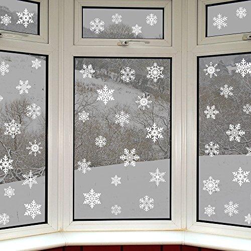 42 original Schneeflocken Fensterbilder von Articlings - Fantastische, statisch haftende PVC-Sticker