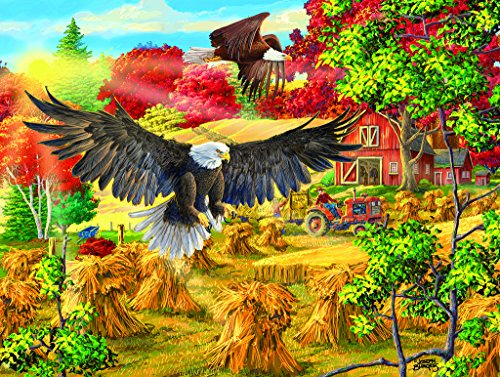 Golden Glory - Eagle Wildlife Puzzle - 500 pc Jigsaw Puzzle by SunsOut, Soaring Eagle