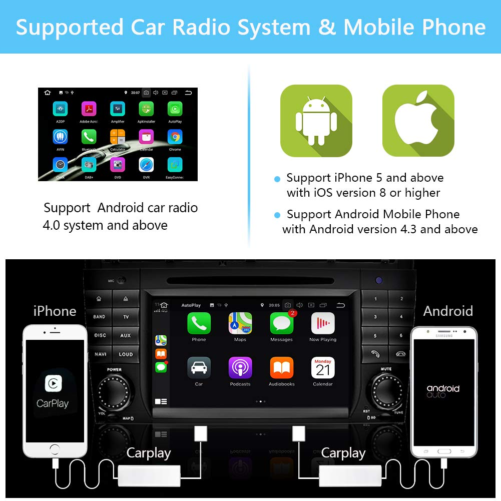 Ohok USB Android Auto CarPlay Dongle para Android Autoradio para Apple iOS y Android