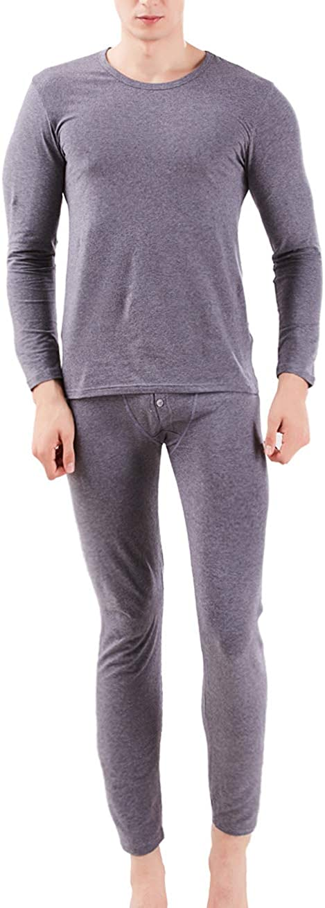 Hamour Men's Thermal Underwear Long Johns Set Base Layer Top and Bottom
