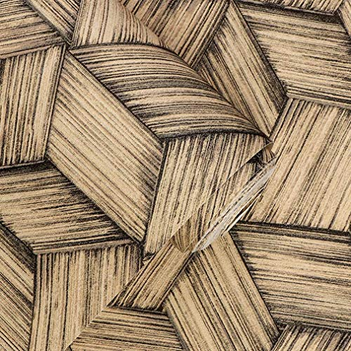 - Giow Wallpaper, Retro Restaurant Tea House Living Room Backdrop Ceiling Wallcoverings Rattan Bamboo PVC Wall Paper (Color : 3)
