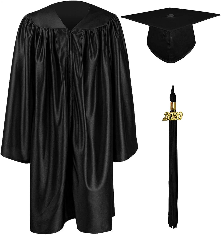 iEFiEL Kids Children Graduation Gown and Cap Tassel Sets for Nursery Academic Kindergarten and Preschool Red Set 5-6 Years