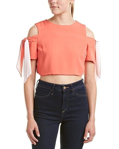 fba8e4d96498d Do+Be Womens Cold-Shoulder Crop Top