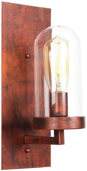 Vintage Lámpara de Pared Vintage Apliques Lámpara Lámpara De Pared Vintage Rústica Antigua Escalera De Dormitorio Pantalla Loft Decoración Led Aplique De Pared Apliques Iluminación De Luminarias: Amazon.es: Iluminación