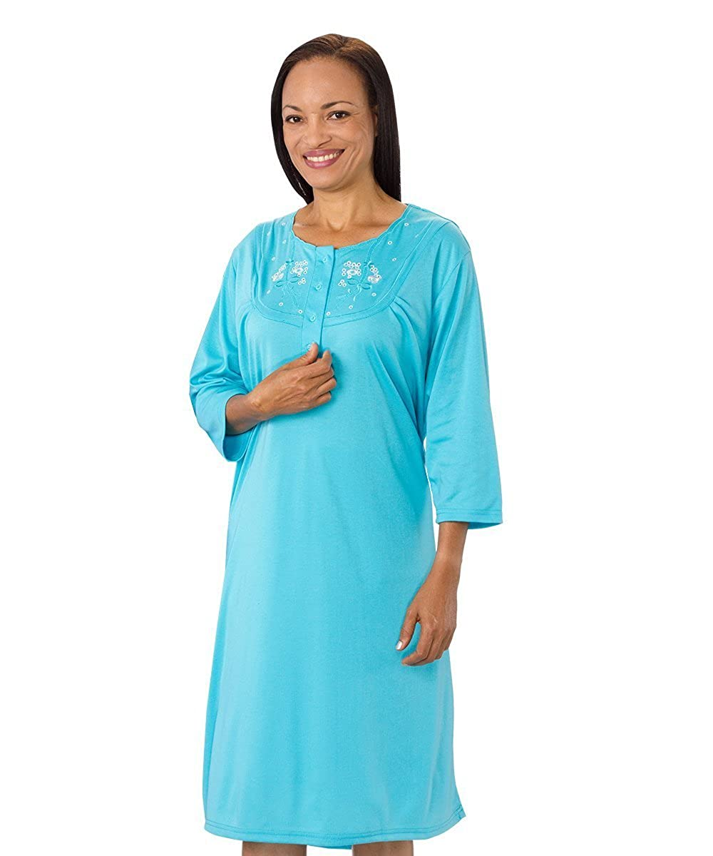 Amazon.com: Hospital Gowns - Womens Pretty Cotton Knit Hospital Gown ...