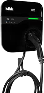Home Level 2 Electric Vehicle (EV) Charger with $300 Blink Public Charging Credit. Delay Start to optimize Utility Rates. 240V, 30-AMP, 18 Ft Cord. Charges All EVs Including Tesla. SAEJ1772.