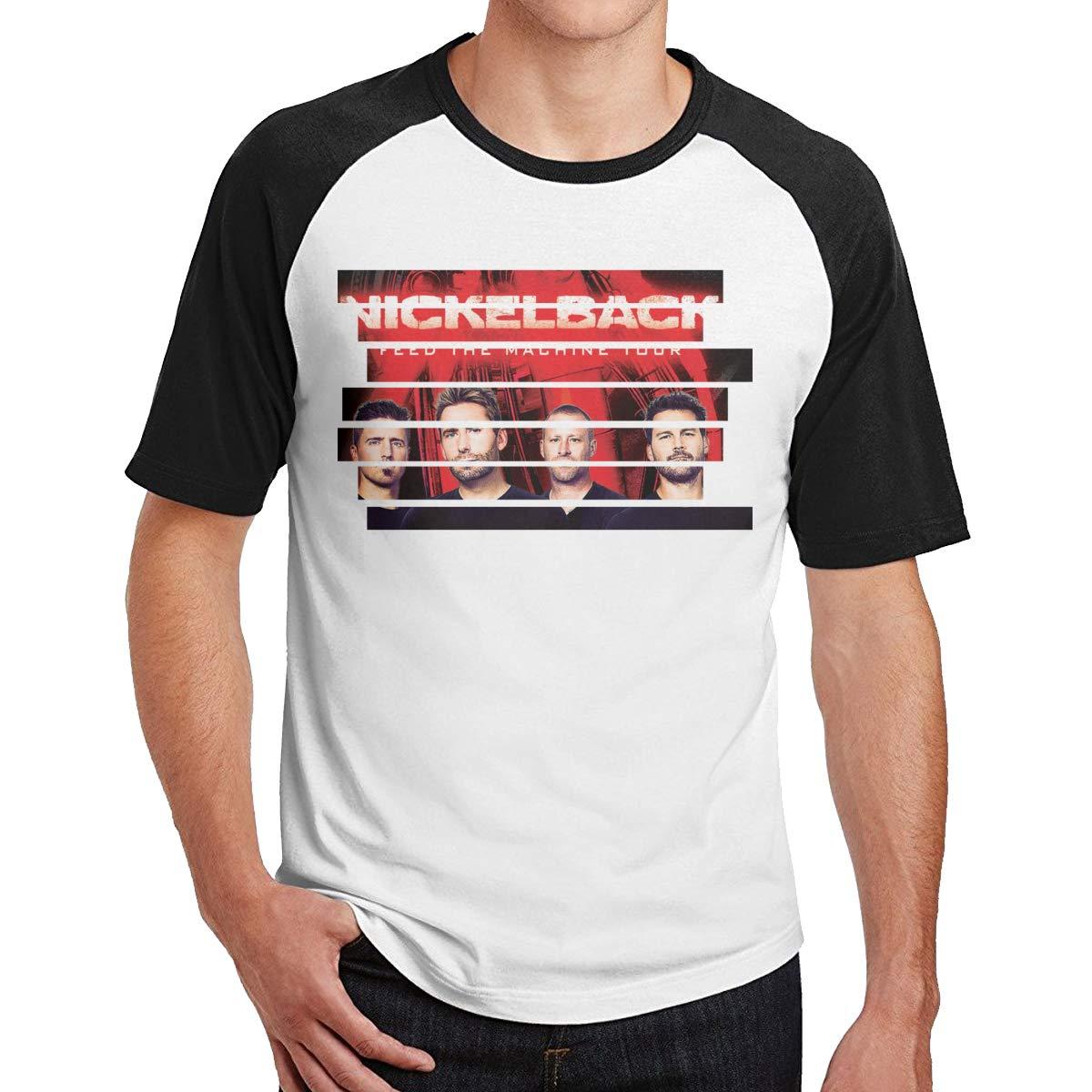 Alwaysuv Man Print With Nickelback Crew Neck Short Sleeve Tees Shirts