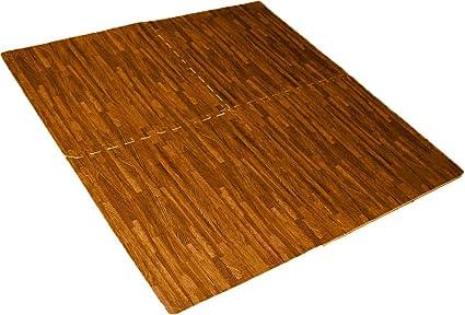 Helios 4 Piece Cushioned Floor Mats Cherry Wood Flooring D6400 4