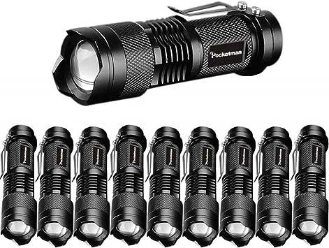 3 Modes Mini Torch Light Q5 LED Zoom Military Grade Tactical Flashlight Torch WT