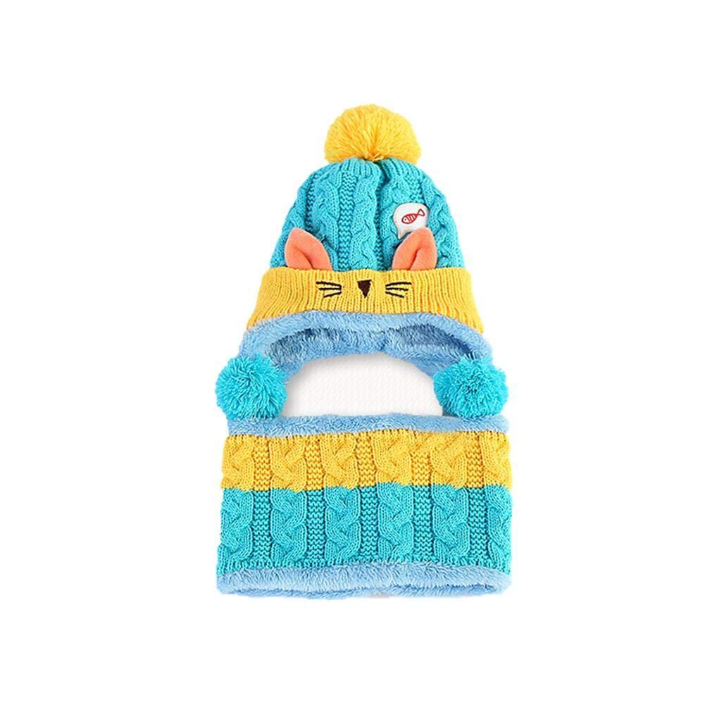 Chapeau Pour Enfants, Automne et Hiver Nouvelle Boule de Poils de Chat Mignon Plus Protecteur de Velours Oreille Bonnet de Laine de Bébé Sheep-H