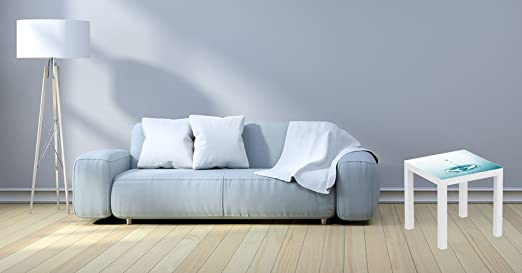 Mesa IKEA Lack Personalizada Gota de Agua | Medidas 0,55 m x 0,55 ...