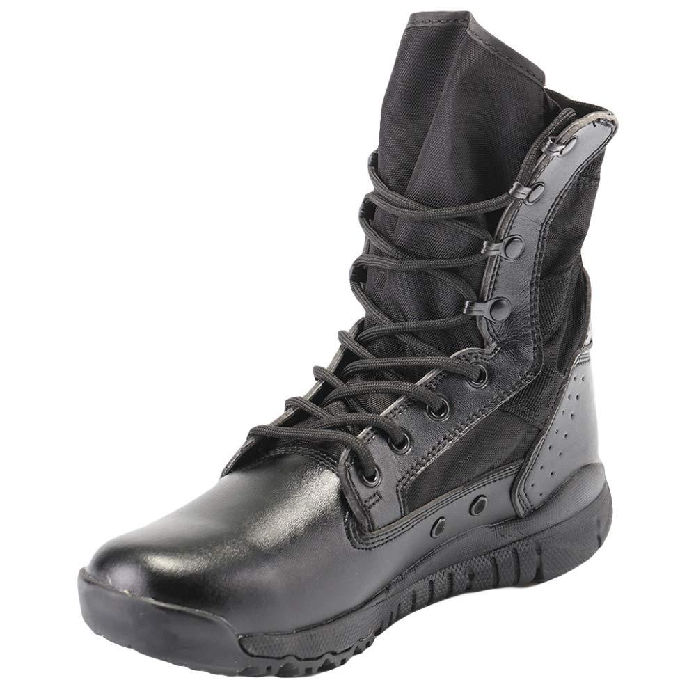 JINGRONG Männer Sport Outdoor Schuhe Armee Militärische Taktische Stiefel High-Top Schwarz Desert Combat Stiefel Camping Klettern Wandern Spezielle Kräfte Schuh