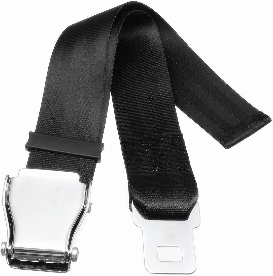 Black Choose The Safe Option and Bring You a Comfortable Trip Adjustable 7-32 Airplane Seatbelt Extender FITS All Airlines in US Except Southwest