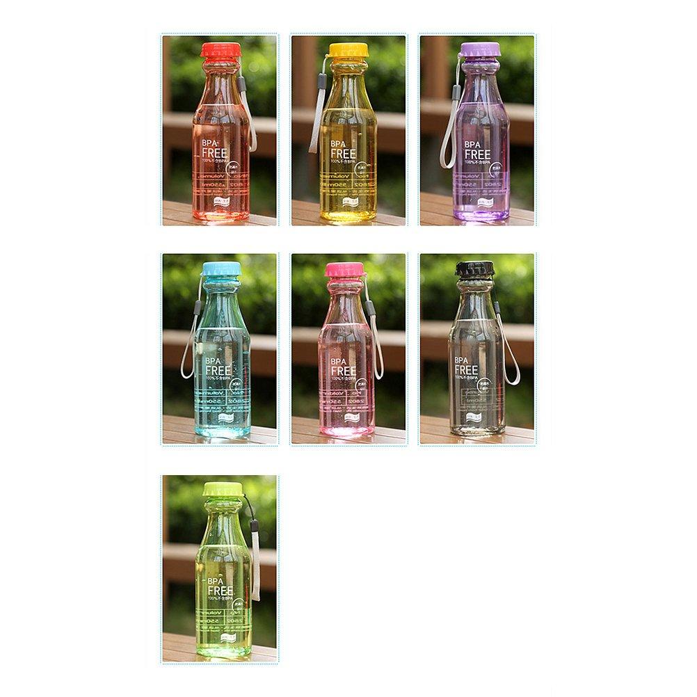 OUNONA 550ml Portable BPA Clear Clear impermeable botella de agua de plástico para yoga Running Outdoor Sports (Green): Amazon.es: Hogar