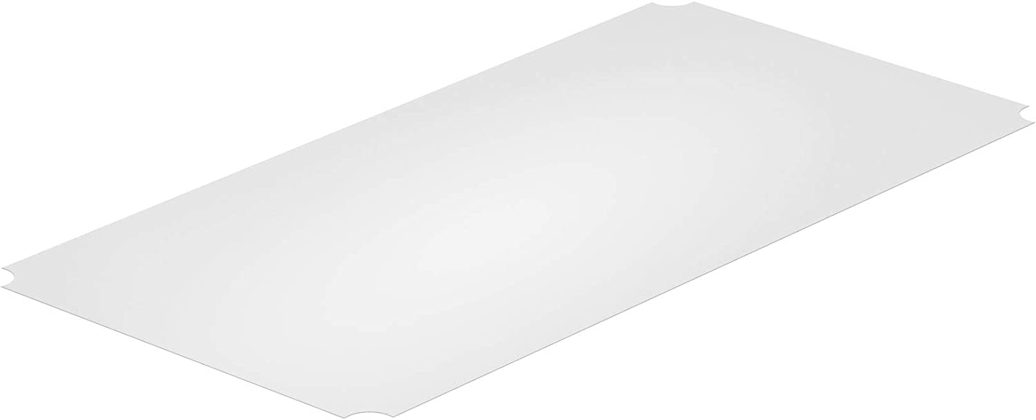 Thirteen Chefs Industrial Shelf Liners 36 x 18 Inch, 5 Pack Set for Wired Shelving Racks, Clear Polypropylene