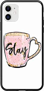 Okteq Case for iPhone 11 Case Shock Absorbing PC TPU Full Body Drop Protection Cover matte printed - stay mug By Okteq