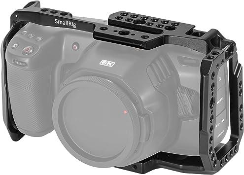 Amazon Com New Version Smallrig Bmpcc 4k 6k Cage For Blackmagic Design Pocket Cinema Camera 4k 6k W Cold Shoe Nato Rail 2203 Camera Photo