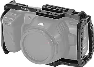 SMALLRIG BMPCC 4K & 6K Cage for Blackmagic Design Pocket Cinema Camera 4K & 6K with Cold Shoe, NATO Rail – 2203