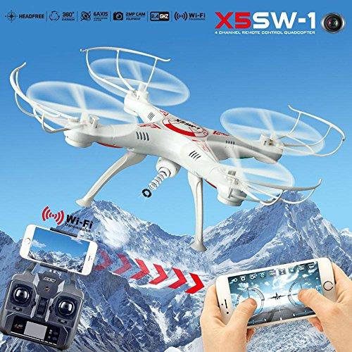 LUBITY X5Sw-1 Wifi Fpv Rtf En Temps RéEl 2,4 Ghz 4 Canaux Rc Quadcopter CaméRa Drone Avec CaméRa Hd (Blanc)