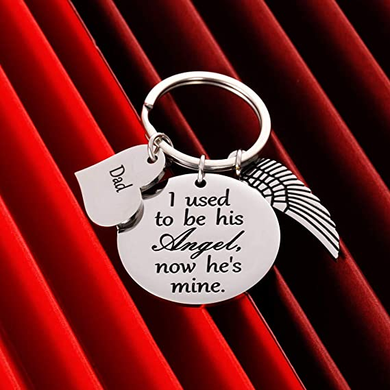 Dad When Cardinals Appear Your Loved One Is Near Keychain or Purse Clip Sympathy for Daughter Remembrance Memorial Gift