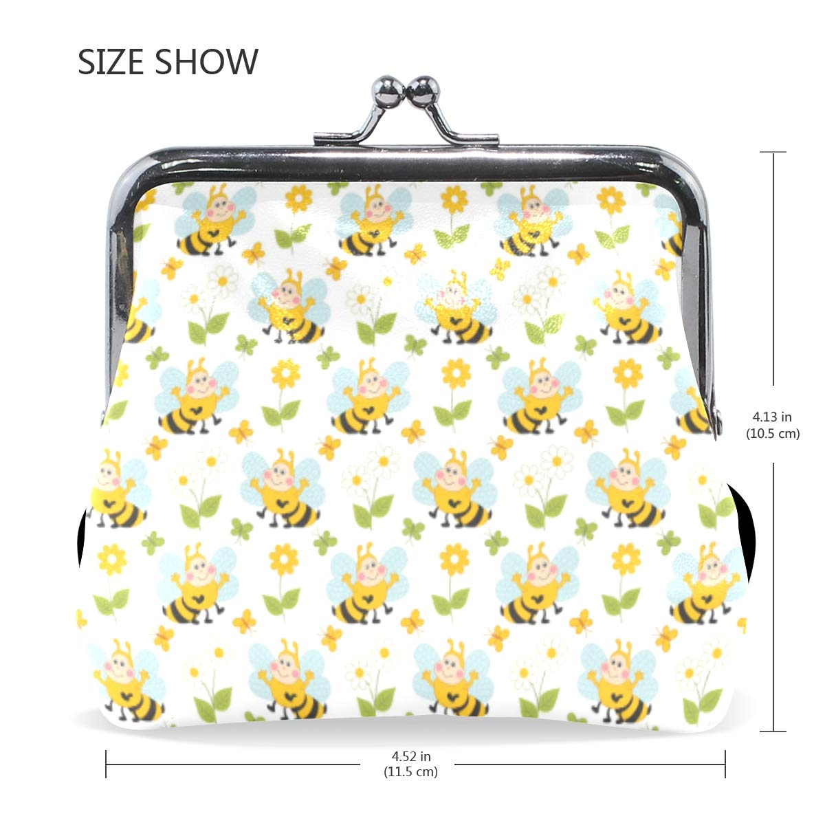 Exquisite Buckle Coin Purses White Flowers Art Mini Wallet Key Card Holder Purse for Women