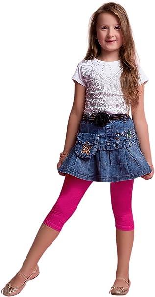 GIRLS SPORTS TOP or LEGGINGS BLACK//ORANGE AGES 3-16 YEARS